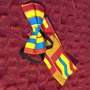 Other - New, handmade kente red bow tie & handkerchief set